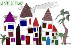 Des activités en ligne accessibles depuis un château où l'élève clique sur l'activité de son choix  : mémory, nombre, horloge, calcul,  lettres, mots, sons et mots.