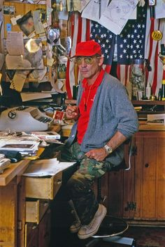 Hunter S. Thompson, Woody Creek, Colorado, 1992