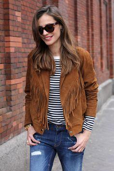 suede fringe jacket vol.2 - ladyaddict | StyleLovely