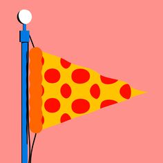 Made by Karan: Karan Singh, Artist and Illustrator. Refinery 29 x Bon Appetit. Illustrations for an article on America's history and obsession with pizza for Refinery29 and Bon Appetit. illustration, art, design, pattern, spots, shapes, geometric, pizza, animation, gif, motion, editorial