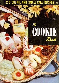 1954 Culinary Arts Institute The Cookie Book featuring 250 cookie and small cake recipes; the Culinary Institute printed 24 different cookbooks like this one! Retro Recipes, Old Recipes, Cookbook Recipes, Vintage Recipes, Cake Recipes, Cooking Recipes, Filled Cookies, Roll Cookies, Cookie Bars