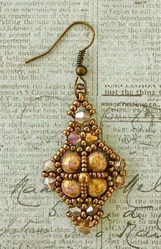 Linda's Crafty Inspirations: Free Video Tutorial: Queens Jubilee Earrings