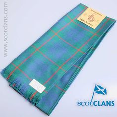 Pure wool scarf in Barclay Hunting Ancient Tartan. Available from ScotClans
