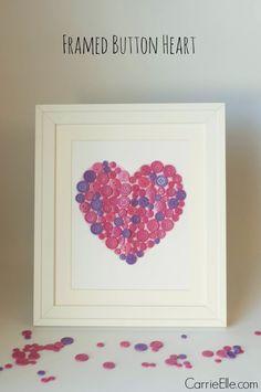 Easy Craft for Kids: Framed Button Heart