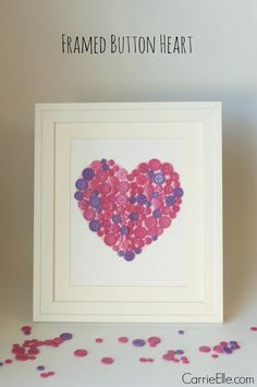 Easy Craft for Kids: Framed Button Heart