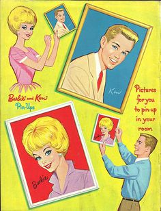 Barbie and Ken Sticker Fun by Whitman, 1962