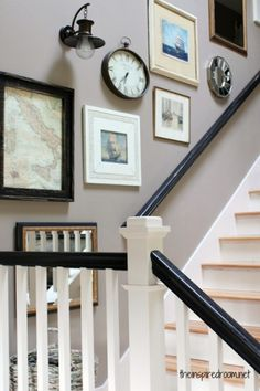 How to Create an Eclectic Stairway Gallery Wall Ilove to mix things up design-wise at my house. By playing with various textures, shapes and colors in a spac