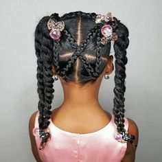 Some new 30 min hairstyle inspiration for the mommys who can not cornrow! I got ya! Some new 30 min hairstyle inspiration for the mommys who can not cornrow! I got ya! Toddler Braided Hairstyles, Lil Girl Hairstyles, Black Kids Hairstyles, Natural Hairstyles For Kids, Trending Hairstyles, Teenage Hairstyles, Hairstyles Haircuts, Amazing Hairstyles, Hairstyles Videos