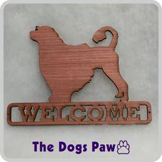 Laser Cut Portuguese Water Dog Welcome Sign #portuguesewaterdog #shopthedogspaw