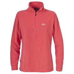 Coral Trespass-Louviers-Womens-1-4-Zip-Fleece-Top-Warm-Winter-Sweater-Ladies
