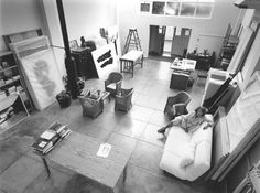 Portuguese artist Helena Almeida in her studio