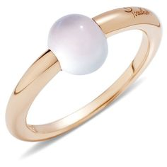 Pomellato Ring M'ama Non M'ama (64.565 RUB) ❤ liked on Polyvore featuring jewelry, rings, white, pomellato, pomellato jewelry, cabochon jewelry, cabochon ring and white ring