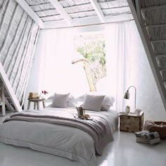 white washed hay loft bedroom [from photo stream]
