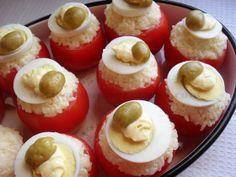 TOMATES RELLENOS (para acompañamiento) ~ Aromas de Mamá | Recetas de Cocina | aromasdemama.com