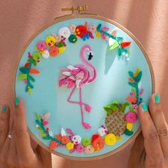 Bird Pencil Drawing, Wreath Drawing, Embroidered Cushions, Hand Embroidery Designs, Yarn Crafts, 3 D, Elsa, Stitch, Crochet
