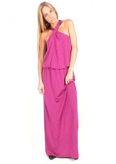 Vestido largo de punto de seda - Long knitted silk dress | www.sayan.es | SAYAN