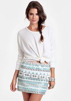 Sea Jewel Sequined Miniskirt #threadsence #fashion