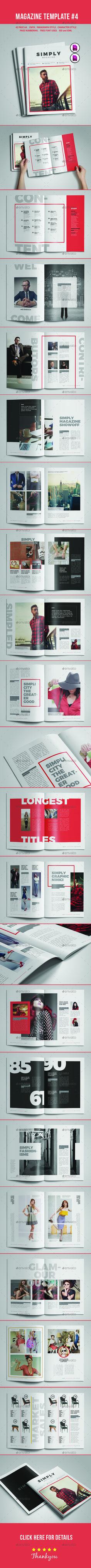 Magazine Template #4 - Magazines Print Templates Download here : https://graphicriver.net/item/magazine-template-4/17485396?s_rank=137&ref=Al-fatih