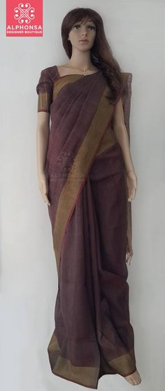 PURE SILK SAREE WITH GOLDEN BORDER