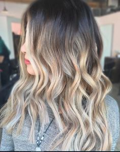 beautiful bronde ombre highlights