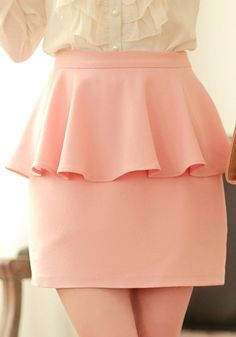 cute.. i usually don't like peplum skirts, but this one is too cute!