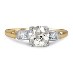 14K Yellow Gold, 18k White Gold The Marjory Ring from Brilliant Earth