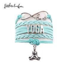 Little MingLou Infinity love Yoga bracelet Yoga Meditation OHM Asana sport charm wrap men bracelets & bangles for women jewelry Cheap Charm Bracelets, Bracelets For Men, Bangle Bracelets, Bangles, Yoga Bracelet, Chakra Bracelet, Jewelry Accessories, Women Jewelry, Infinity Love