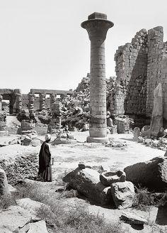 The Great Court: Karnak, Egypt 1900-1920.
