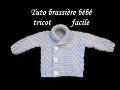Brassière pull pour bébé au tricot, explications pour plusieurs tailles facile à réaliser!
