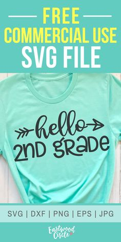 Hello Grade svg Hello Second Grade svg Grade svg Second Grade svg School svg School svg Files Teacher svg School Shirt svg School Shirts, Teacher Shirts, Cricut Baby Shower, 2nd Grade Teacher, Cricut Explore Air, Cricut Creations, Personalized T Shirts, Custom T, Heat Transfer Vinyl