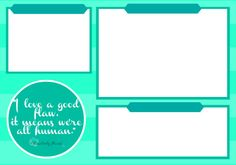 Aqua Turquoise Desktop Organizer wallpaper background - add yr own headers