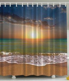 Ocean Beach Sunrise Shower Curtain - Beachfront Decor