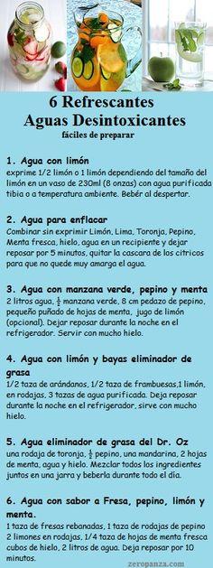 6 refrescantes aguas desintoxicantes zeropanza.com