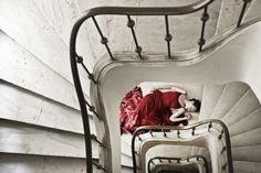 Red on the Staircase by eugkyr