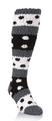 So soft polka dot knee high fuzzy socks #winter #love #warm