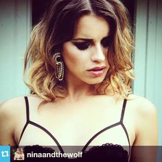 #Repost from @ninaandthewolf #makeup #makeupartist #makeupro #marademarcomua Squeezing our brains to finish on time for you to enjoy our next product to be released next Tuesday.. Keep an eye on our blog www.ninaandthewolf.com to see our beautiful @valentinageorgiapegorer with this incredible #lingerie piece #ninaandthewolf #wolf #model #fashion #luxury