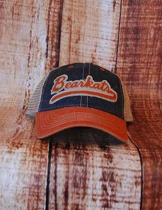 SHSU Bearkats Trucker Hat - NAVY/ORANGE at Barefoot Campus