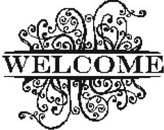 Welcome  a Counted Cross Stitch Pattern by WooHooCrossStitch, $9.00
