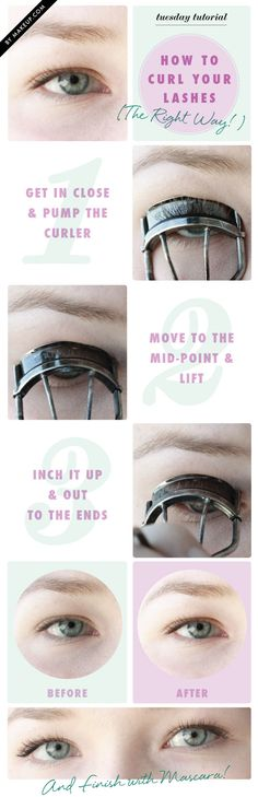 Tuesday Tutorial: How To Curl Your Eyelashes (The Right Way!) - There are plenty of different eyelash curling methods out there (believe us, we've tried them all). In all our years of primping and crimping we've come to love this one the most. If you're doing something different, allow us to show you the complete curl you've been missing (trust us)...