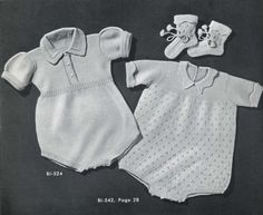 This item is unavailable Baby Romper Pattern, Knitted Romper, Vintage Knitting, Baby Knitting Patterns, Pattern Books, Baby Wearing, Vintage Patterns, Knit Crochet, Rompers