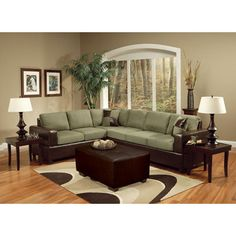 $579.15 ACME sectional sofa.  That green is actually insanely gorgeous.  But this whole thing is too big for my living room.  Dang it.