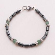 Mans Healing Bracelet #Hematite #Aventurine #Healing #Bracelet #Mensbracelet #Boysbracelet #calming #gemstones