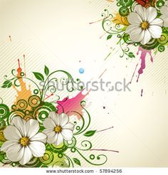 stock vector : Vector grunge floral background