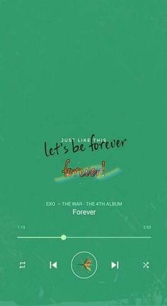 Korean Wallpaper, Music Wallpaper, Wallpaper Quotes, Exo Wallpaper Hd, Exo Kokobop, Chanyeol, Song Quotes, Wall Quotes, Exo Songs
