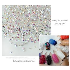 1440pcs/lot 1.3mm Multicolor Nail Art Rhinestones Micro Nail Rhinestones Mini Nail Art Decorations Manicure Accessories