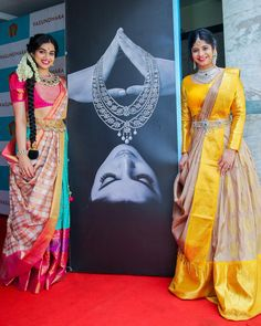 Beautiful South Indian Wedding Wear Idea :- AwesomeLifestyleFashion Different Culture have their own look and style and Kanjivaram and. Lehenga Saree Design, Half Saree Lehenga, Saree Look, Lehenga Designs, Saree Blouse, Mehndi Designs, Half Saree Designs, Sari Blouse Designs, Dress Designs