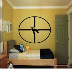 Deer Scope Decal  Hunting Decal   Whitetail by SimpleLifeVinyl
