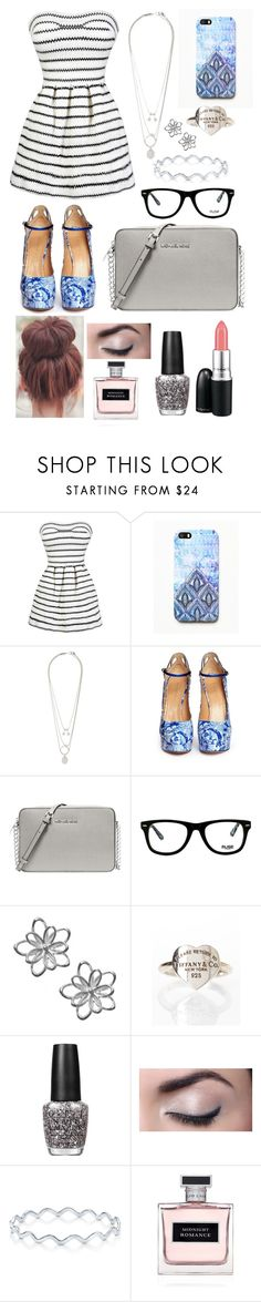 """""""Untitled #12"""" by annaharbottle1999 ❤ liked on Polyvore featuring Free People, Maison Margiela, Charlotte Olympia, Michael Kors, Muse, Tiffany & Co., MAC Cosmetics, OPI, BERRICLE and Ralph Lauren"""