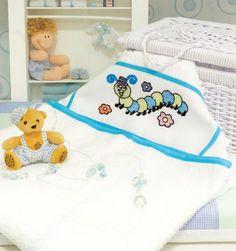 Toalha com bordado infantil / DIY, craft