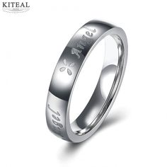 Fashion jewellery charms Titanium Steel rings unisex rings for Angel girl anel feminino jewelry for women&men